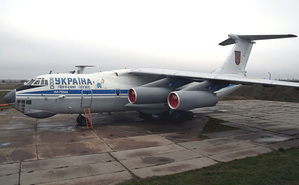 Ilyushin IL-76 reg. number 76732.