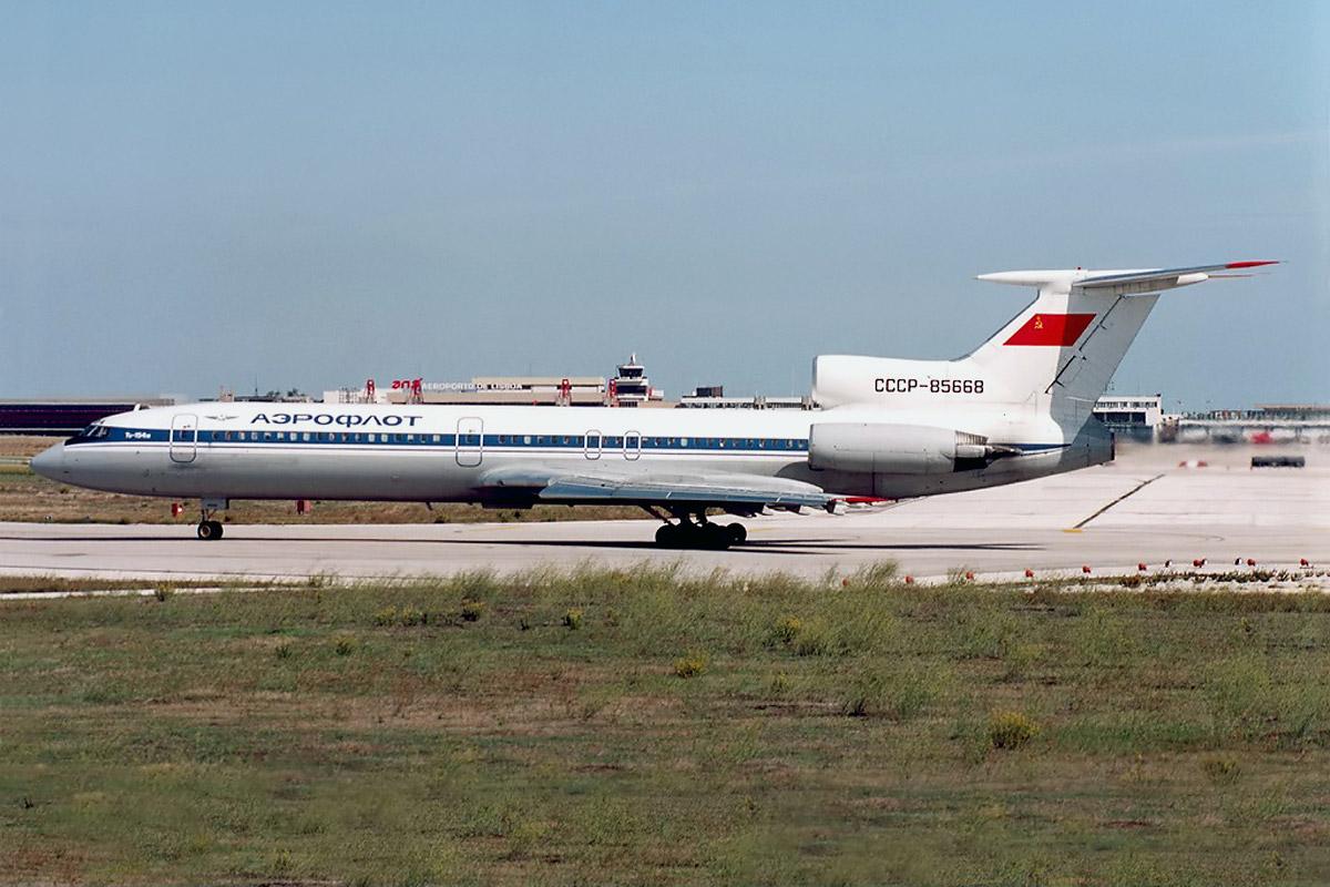 Самолет Ту-154М СССР-85668.