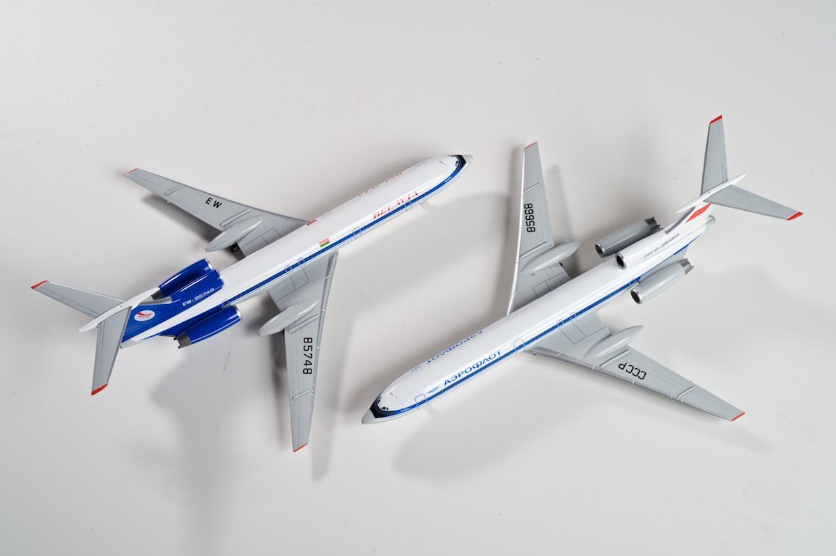 AviaBoss Tupolev Tu-154M scale models.