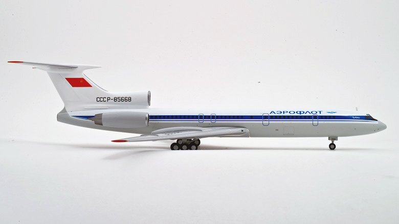 Aeroflot Tu-154M airplane scale model.